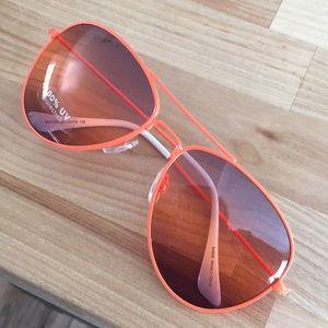 Accessories - Neon orange aviators was 100uv sunglasses